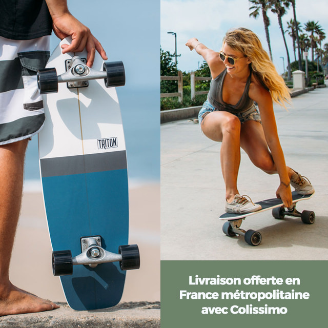 Skateboard Carver : livraison gratuite en France métropolitaine